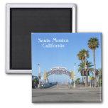 Santa Monica Magnet! 2 Inch Square Magnet