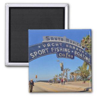 Santa Monica Pier 2 Inch Square Magnet