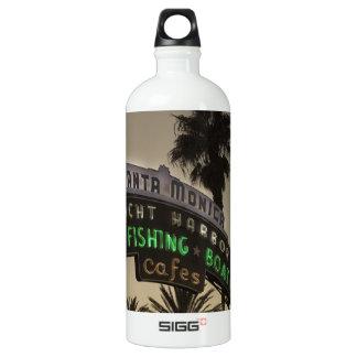Santa Monica pier Aluminum Water Bottle
