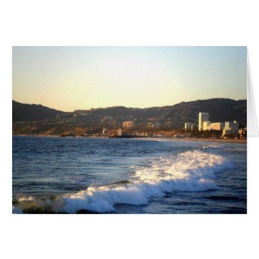 Santa Monica Pier as seen from Venice Beach Greeting Card