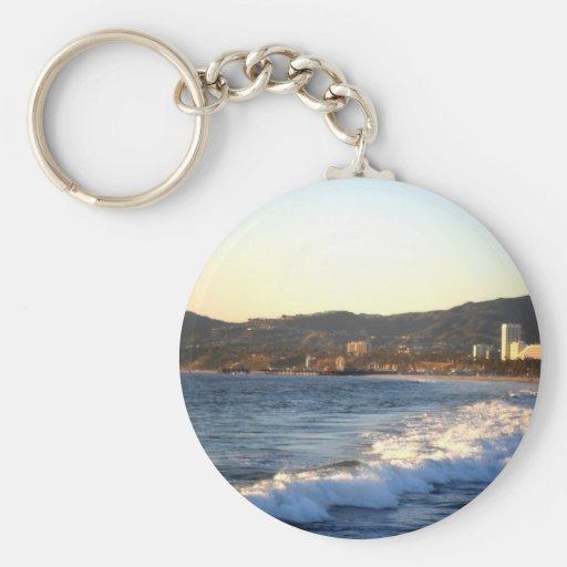Santa Monica Pier as seen from Venice Beach Key Chain