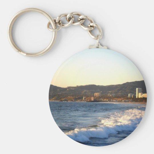 Santa Monica Pier as seen from Venice Beach Keychain
