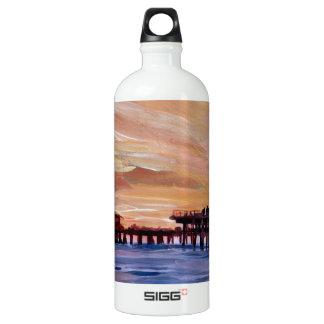 Santa Monica Pier At Sunset Aluminum Water Bottle