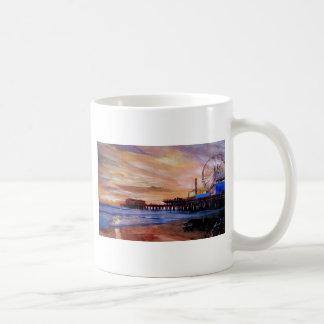 Santa Monica Pier At Sunset Coffee Mugs