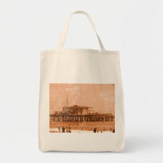 Santa Monica Pier Grocery Tote Bag
