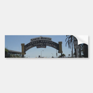 Santa Monica Pier Car Bumper Sticker