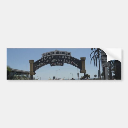 Santa Monica Pier Bumper Sticker