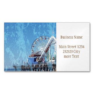 Santa Monica Pier Business Card Magnet