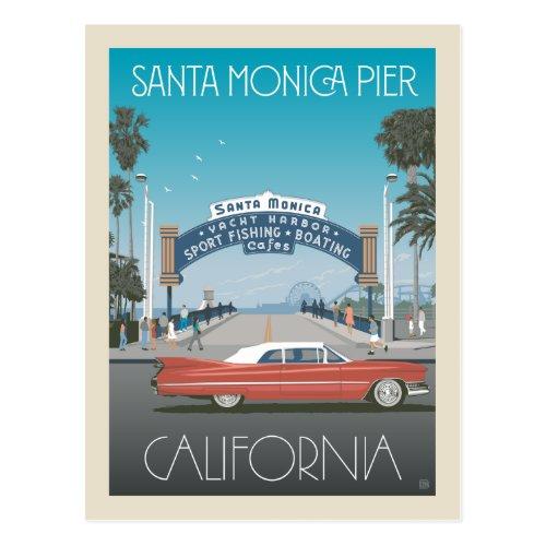 Santa Monica Pier  California Postcard