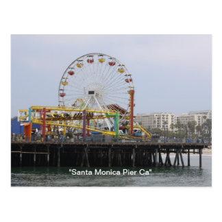"""Santa Monica Pier""  California Postcard"