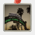 Santa Monica pier Christmas Ornaments