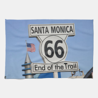 Santa Monica Pier - End of the Trail Hand Towel