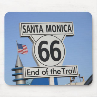 Santa Monica Pier - End of the Trail Mouse Pad