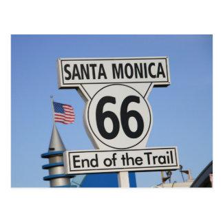 Santa Monica Pier - End of the Trail Postcard