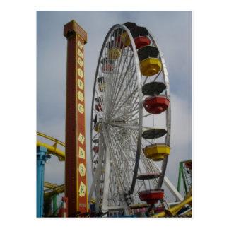 Santa Monica Pier ferris wheel 2009 Postcard