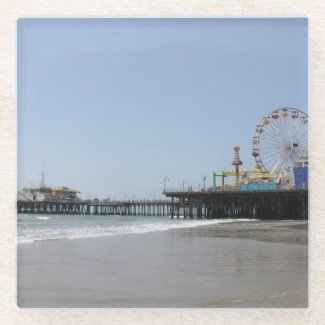 Santa Monica Pier Glass Coaster