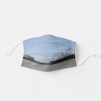 Santa Monica Pier in Los Angeles, California Cloth Face Mask