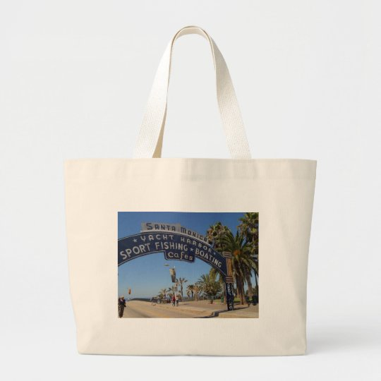 Santa Monica Pier Large Tote Bag
