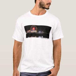 Santa Monica Pier Night (watercolor) T-Shirt