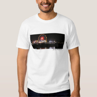 Santa Monica Pier Night (watercolor) Tee Shirt