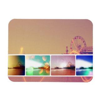 Santa Monica Pier Photo Collage Rectangular Photo Magnet