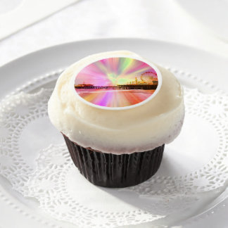 Santa Monica Pier Pink Explosion Edible Frosting Rounds