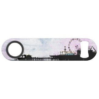Santa Monica Pier Pink Grunge Speed Bottle Opener