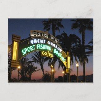 Santa Monica Pier postcard postcard