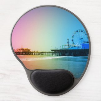 Santa Monica Pier Rainbow Colors Gel Mouse Pad