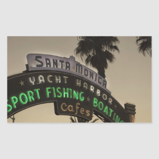 Santa Monica pier Rectangular Sticker