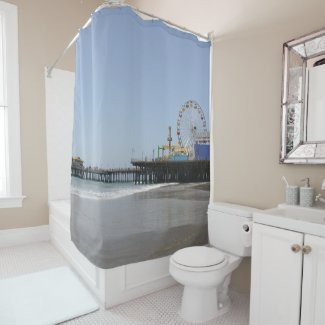 Santa Monica Pier Shower Curtain