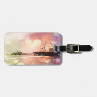 Santa Monica Pier - Sparkling Pink Photo Edit Bag Tag
