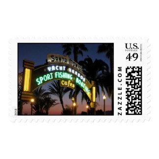Santa Monica pier stamps