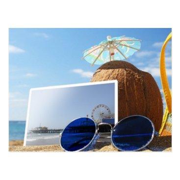Beach Themed Santa Monica Pier Summer Beach Party Postcard