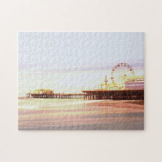 Santa Monica Pier Sunrise Jigsaw Puzzle