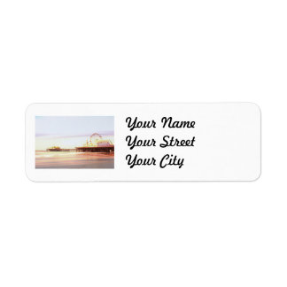 Santa Monica Pier Sunrise Label