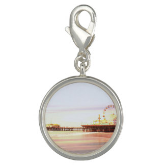 Santa Monica Pier Sunrise Photo Charms