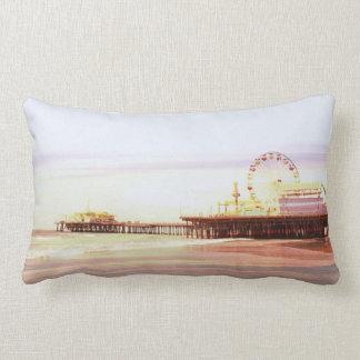 Santa Monica Pier Sunrise Pillow