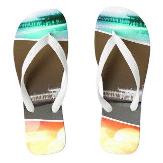 Santa Monica Pier Tricolor Flip Flops