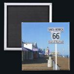 "Santa Monica Route 66 Magnet! Magnet<br><div class=""desc"">Beautiful Santa Monica Magnet! Route 66. Photo by MammaBASIL.</div>"