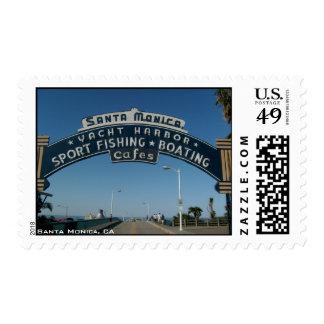 Santa Monica Sign Postage