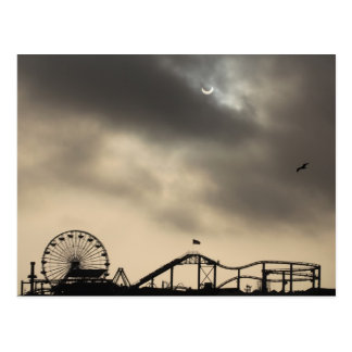 Santa Monica Solar Eclipse Postcard