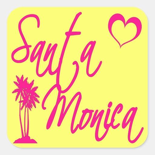 Santa Monica Square Sticker