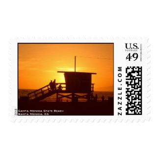 Santa Monica State Beach Postage