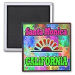 Santa Monica Sun & Palms Magnet