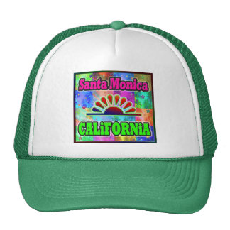 Santa Mónica Sun y gorra de las palmas