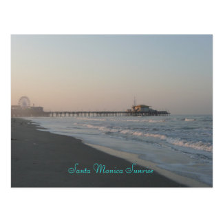 Santa Monica Sunrise Postcard