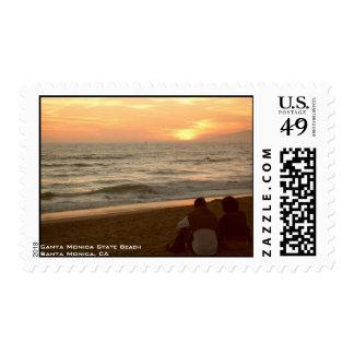 Santa Monica Sunset Postage