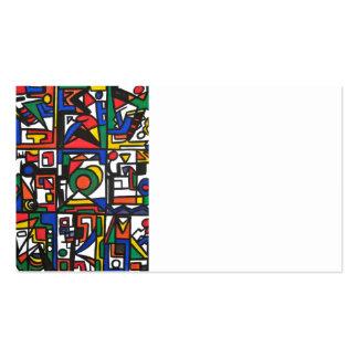 Santa Mónica - tarjetas de visita del arte abstrac
