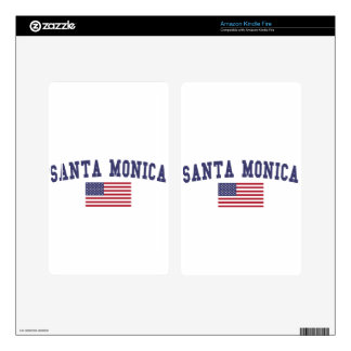 Santa Monica US Flag Decals For Kindle Fire